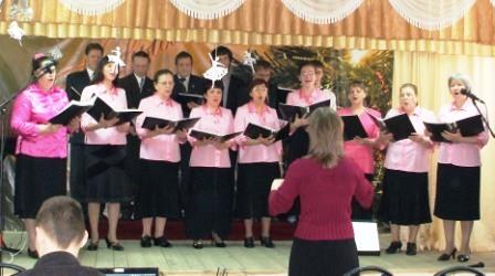 Церковный хор на выезде